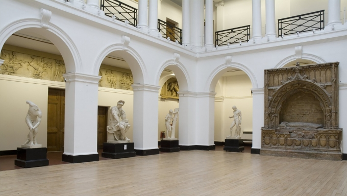 colour photograph of the Sculpture Court with Casts at ECA